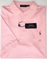 NEW $98 Polo Ralph Lauren Short Sleeve Pink Shirt Mens Big NWT 100% Cotton