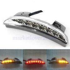For Harley Sportster 883 1200 Red& Amber Fender Edge LED Tail Light Turn Signals
