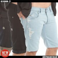 Men's denim shorts best quality Australian label slim fit size 28 30 32