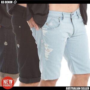 Men's denim shorts best quality Australian label slim fit size 28 30 32