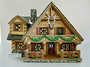 Department 56 Snow Village- Hunting Lodge #5445-3 with Antlers # A2 Retired💖