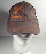 Jagermeister Hat mesh snapback Brown Embroidered liquor beer alcohol  (bin H)