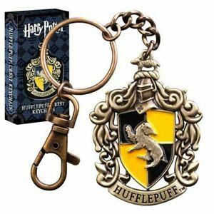 Harry Potter Hogwarts Hufflepuff House Crest Metal Keychain Keyring - Boxed