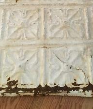 1890's Lot Of 4  Original 12x12 Antique Reclaimed Tin Ceiling Tile Colorado