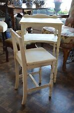 Charming Vintage Shabby Chic Telephone Table and Chair 1940's use for a desk