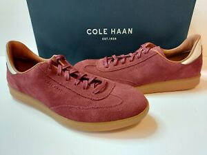 Cole Haan GrandPro Turf Suede Leather Sneakers Mens 9 M Mahogany Red $149