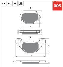 Front Sintered Brake Pads Fits KTM LC4350 1992 upwards   SF7