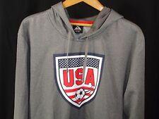 USA Soccer Team Gray Striker Pullover Hoodie Kangaroo Pockets XL NWOT