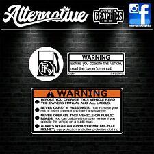 Warning Sticker Set for Yamaha PW50 PW80 YZ WR YZF 50 80 125 250 450 Plastics