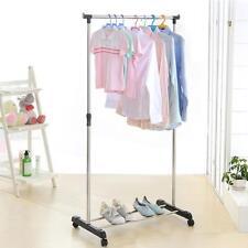Single Commercial Garment Rolling Rack Rail Clothing Bar Retail Display Hanger