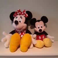 Walt Disney Mickey And Minnie Mouse Plushes