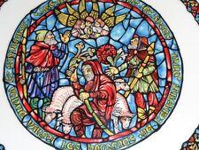 Limoges Collectors Plate NOEL VITRAIL - JOYEUSE NOUVELLE