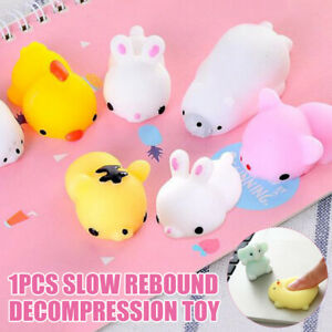 Cute Cartoon Animal Shape Squeezing Healing Toy Kids Adult Stress Reliever Toys