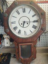 R A Vintage Pendulum Wall Clock w Key & Pendulum - West Germany. See Pics-Rare