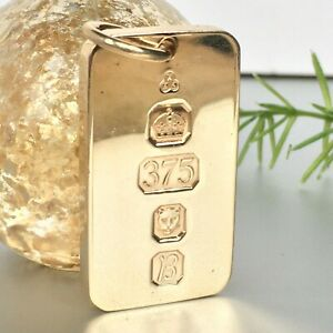 HEAVY 9ct SOLID GOLD CURB INGOT 29g