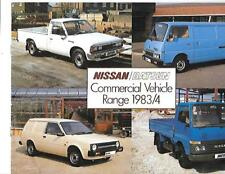 NISSAN VAN TRUCK COMMERCIAL RANGE SALES BROCHURE  NOVEMBER 1983 FOR 1984
