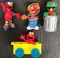 Sesame Street vintage figures pvc mixed lot of 4 preowned toys