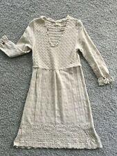 Odd Molly Kleid Natur Beige cream Strickkleid 3 passt gut bei 40 42 44 Baumwolle
