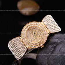 AOYI 18K Golden Plated Diamond Case Womens Ladies Bracelet Wrist Watches Quartz