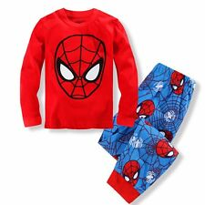 Spiderman Kids Toddler Baby Boys Pajamas Set Pjs Sleepwear Size 2T 3T 4T 5T 6 7