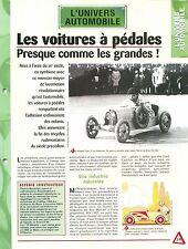 Voitures à Pédales Enfants Bugatti Type 35 Eurêka Citroën Car Auto FICHE FRANCE