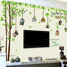 X Large Family Tree Birds Photo Frames Wall Stickers Art Decals Home Decor UK