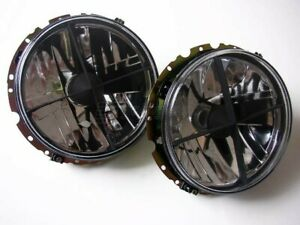 VW Golf MK1 1 Beetle T2 Bus Crystal Clear Headlight Cross Hair Head Light Lamp