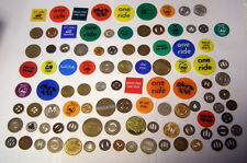 ** Lot of 100 Different - TRANSPORTATION TOKENS -- Many older and some unused *