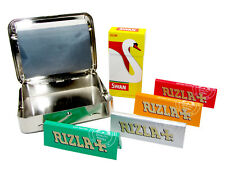 Auto Roller Cigarette Rolling Machine Rizla Papers Swan Pre-cut Filter Tips Kit
