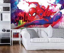 Marvel Papier Peint Mural pour Chambre D'Enfant Spider-Man Comics Heroes Photo