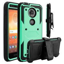 Funda con CLIP para a prueba de choques blindaje duro caso cubierta para Motorola Moto E5 Plus/Supra