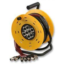 Pulse 8 Way XLR Multicore Microphone / Signal Stagebox Snake Drum Reel 25m