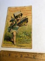 Vintage Victorian trade advertising card Austen's Forest Flower Cologne Perfume
