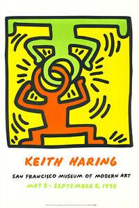 Keith Haring - Headstand - Hochwertiger Kunstdruck auf schwerem Papier