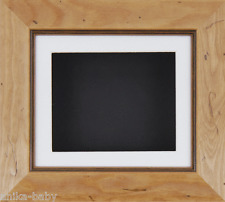 Small Rustic Pine Deep Box Display frame Medals 3D 2D Objects Casts White Black