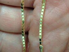 "14k Gold Box Link Pendant Chain/Necklace 18"" 1.6mm 8.5 grams (BOX090)"