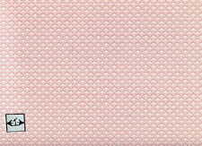 "Brodnax Prints "" Pink Champagne"" 1FL152 miniature wallpaper dollhouse 1/12 scale"