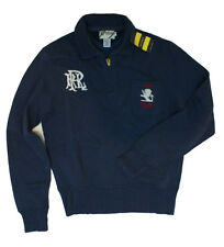 RUGBY RALPH LAUREN RRL VINTAGE SWEATER NAVY BLUE FADED 1/2 ZIP SIZE: SMALL $125