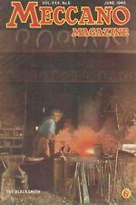 1945 JUNE 33569 Meccano Magazine Cover Picture  THE BLACKSMITH
