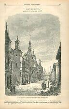 Exposition Universelle de Paris 1878 rue des Nations GRAVURE ANTIQUE PRINT 1880