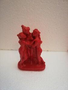 STATUA SCULTURA TRE Grazie  CANOVA POP ART MODERN DESIGN ARREDO INTERNO H14,5cm