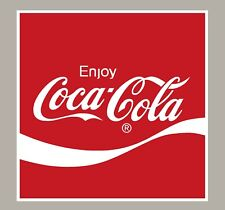 2 X ENJOY COCA COLA STICKERS SIGNS