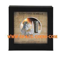 Cleopatra, Fiji 2012, $50, 2oz Silver Palladium Gold Hematite Gemstone Proof