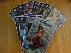 RARE LOT OF WONDERLAND: ASYLUM 1-4 COMIC BOOKS! VARIANT COVERS! ZENESCOPE!