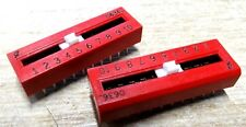 2x  Grahill 79A10T 10 way circuit selector dip switch slide one of 10