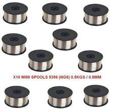 BULK BUY X10 MINI SPOOLS / Aluminium Mig Welding Wire 5356 - 0.5 kg x 0.8MM