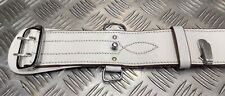 """Genuine Vintage Army Issue White Ceremonial Officers Sam Browne Belt Leather 38"""""""
