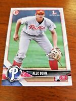 ALEC BOHM 2018 BOWMAN DRAFT CARD BD-25 PHILADELPHIA PHILLIES (FIRST ROOKIE)