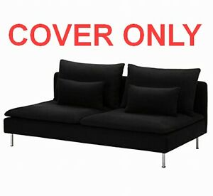 🔥COVER ONLY Genuine IKEA SODERHAMN 3-Seat Sofa Section Replosa Black 402.352.09