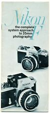 Nikon F system to 35mm manuale illustrativo in inglese CV28